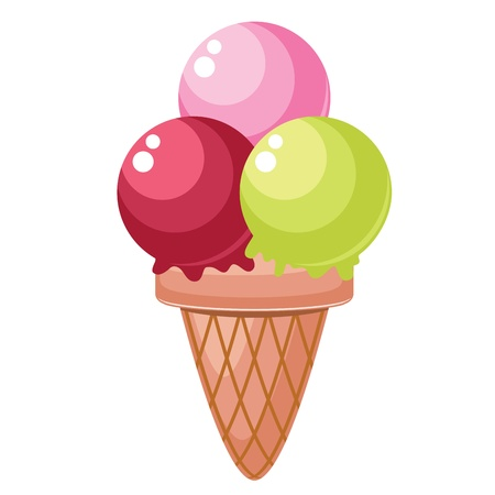 Isolated colorful ice cream Vector