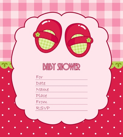 소녀를위한 베이비 샤워 카드