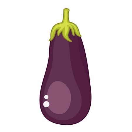 Geà ¯ soleerd op witte aubergine Stock Illustratie