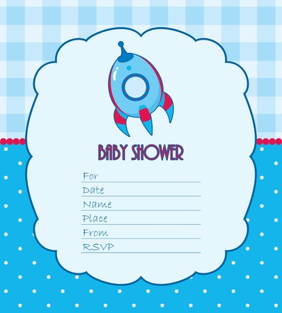 Baby shower card for boy