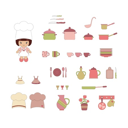 Cute kitchen ware set