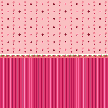 sweet background: Seamless pink wallpaper Illustration