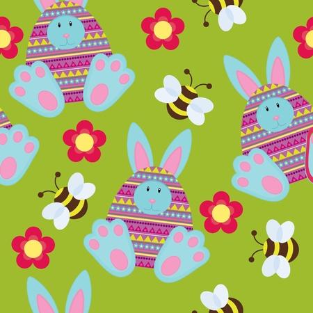 Seamless Easter wallpaper Vector