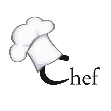 chefs cooking: Symbol of chef Illustration
