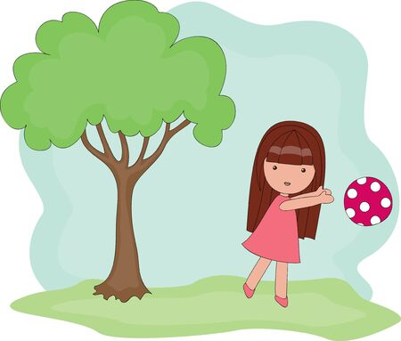 Playing outside girl