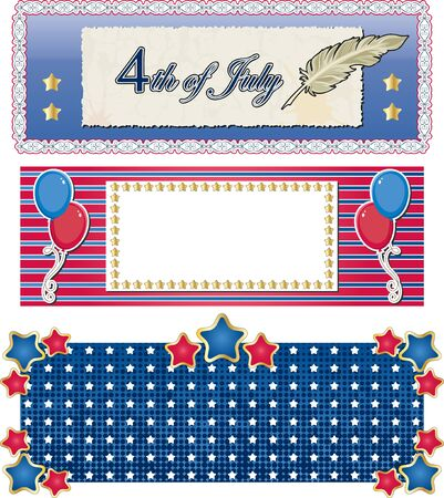 Holiday banners  4th of july