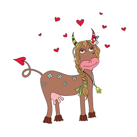 enamoured: Enamoured funny cow