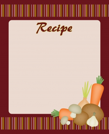 recipe decorated: Recipe card with vegetables