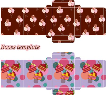Box templates Vector