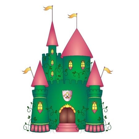 castle door: Castle illustration