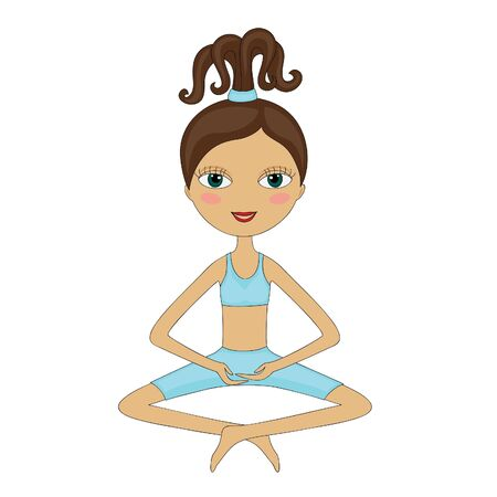 Woman, doing yoga Vector