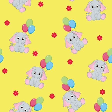 wrapper: Seamless baby animal background