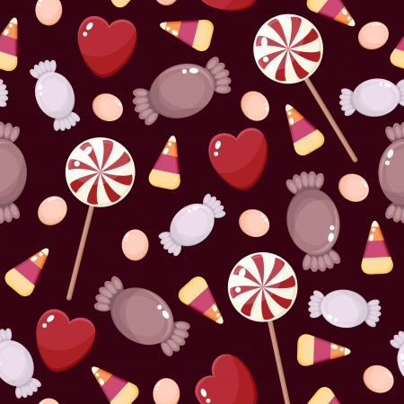 Seamless candies wallpaper Vector