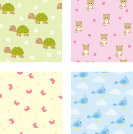 baby clip art: Seamless baby wallpaper Illustration