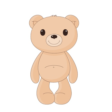 cute bear: Brown teddy bear