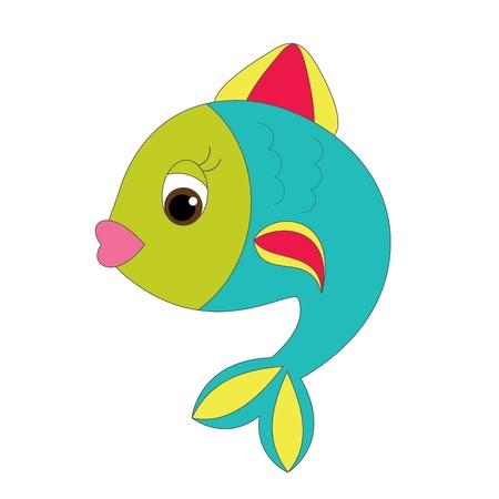 밝은 만화 물고기 일러스트