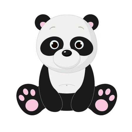 Cute isolated panda Vettoriali
