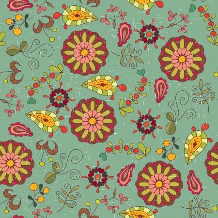 꽃 빈티지 벽지 패턴