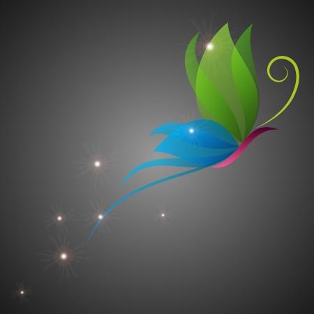 tekening vlinder: Fantasy kleurrijke vlinder.