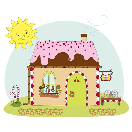 Candy huis Stock Illustratie