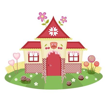 Maison de bonbons Vecteurs