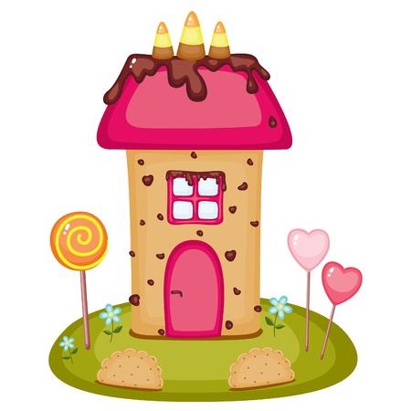 Dom cukierek Ilustracje wektorowe