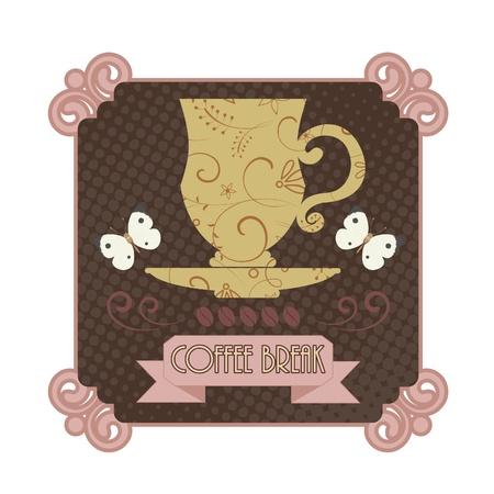 Coffee badge Vector