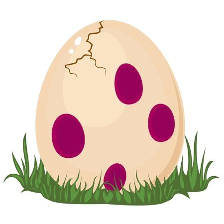 Dinosaur's egg Stock Illustratie