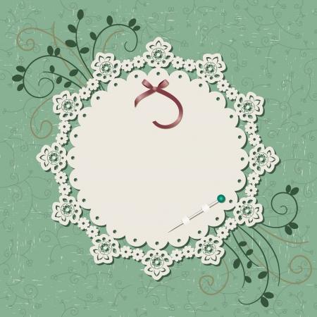 Vintage floral blank card
