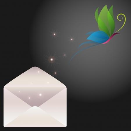 green butterfly: Butterfly message