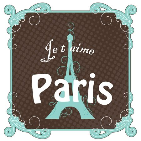 Vintage Paris card