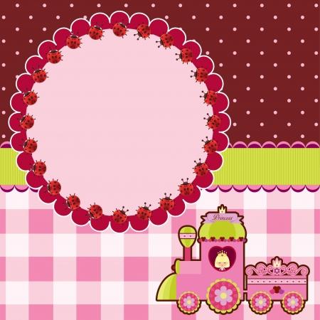 Princess pink card Ilustrace