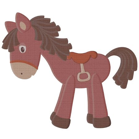 Vintage toy horse Иллюстрация
