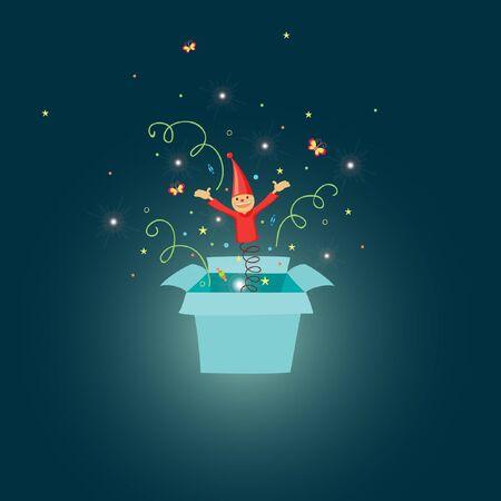 jack in the box: Jack in the box cartoon illustration Illustration