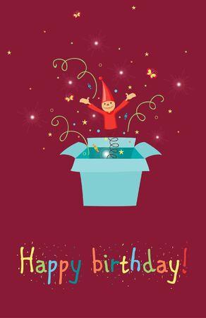 Jack in the box birthday card