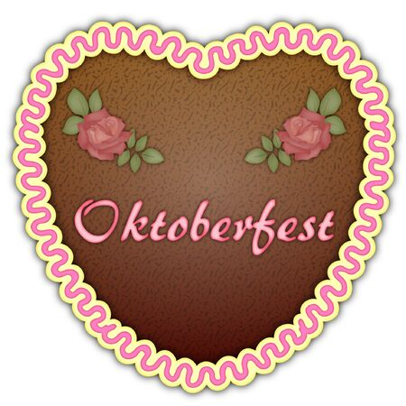 german tradition: Cookie heart for Octoberfest