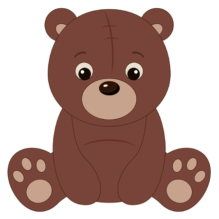 Brown teddy bear Stock Vector - 15825673