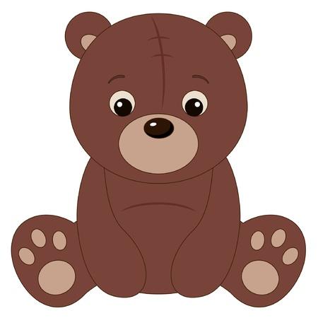cute bear: Brown teddy bear