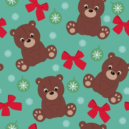 Teddy bear seamless wallpaper  Ilustração