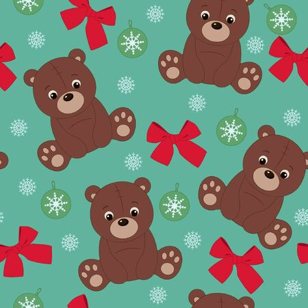 Teddy bear seamless wallpaper  Vector