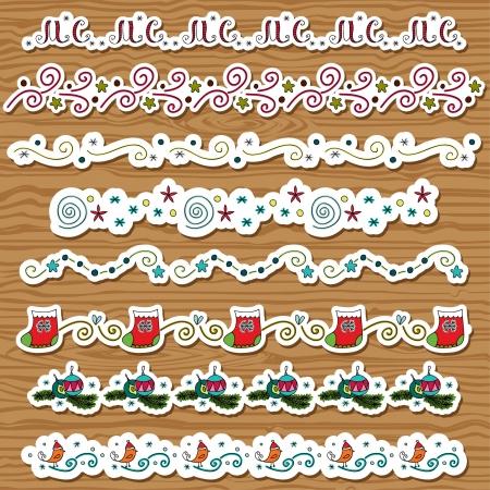 Seasonal Christmas brushes Illustration