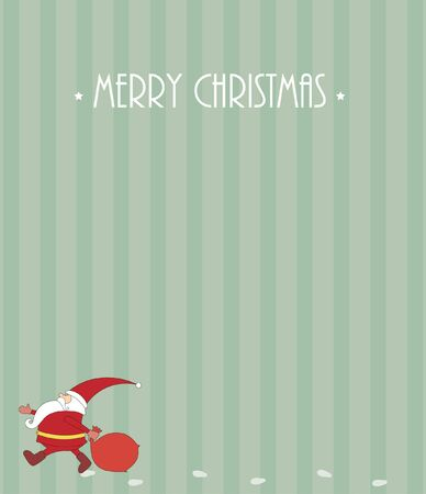 Christmas card with Santa Claus Stock Vector - 16464321