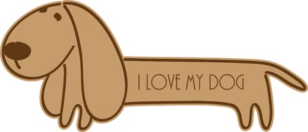 Isolated brown dog sign design