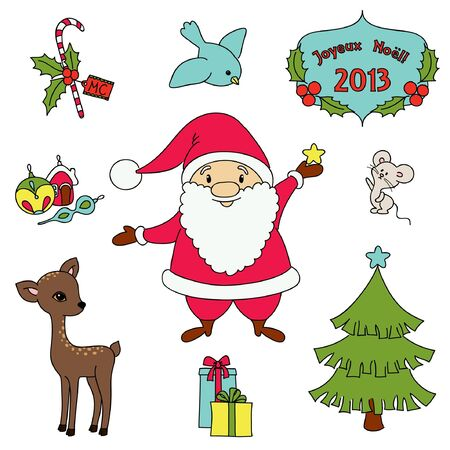 Christmas cartoon clip-art collection.  Stock Vector - 16595133