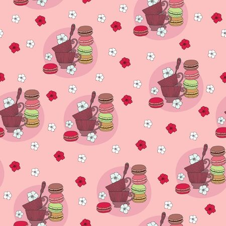 Seamless retro design wallpaper pattern Vector