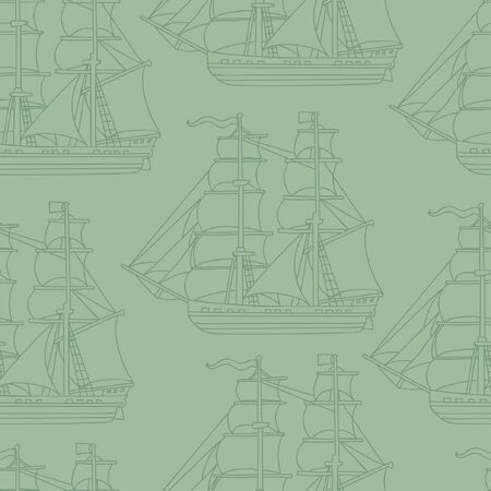 Seamless wallpaper pattern with boats