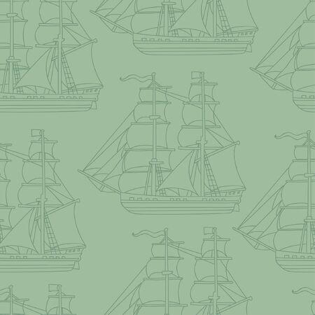 boyish: Seamless wallpaper pattern with boats