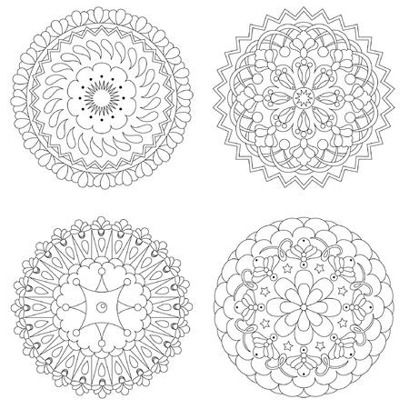 Four rosette design patterns