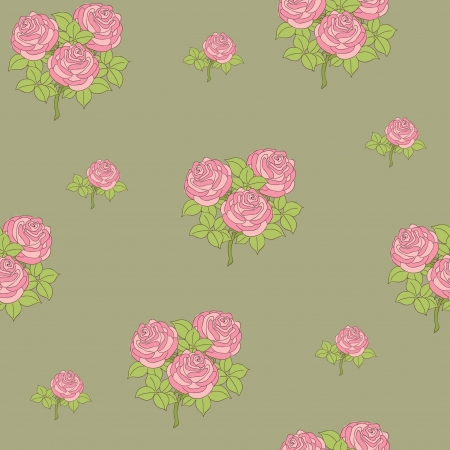 Seamless retro floral design wallpaper pattern  Vector