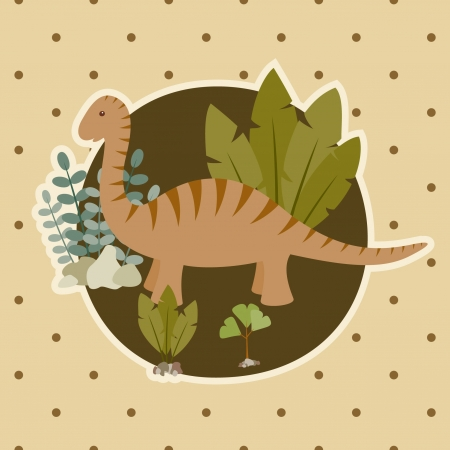 Childish card with dinosaur